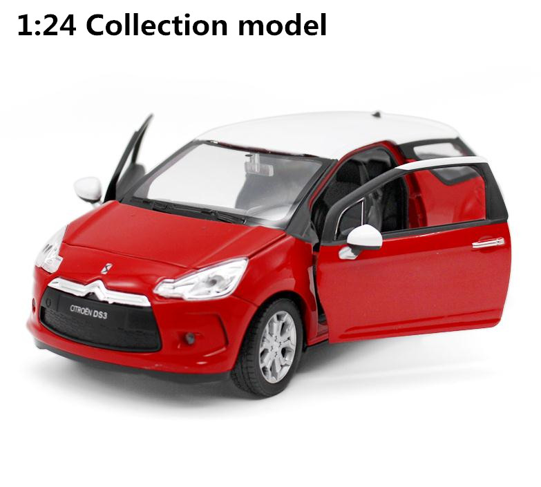 все цены на 1:24 advanced alloy car models,high simulation Citroen DS3,metal diecast 2 open the doors,collection toy vehicles,free shipping онлайн