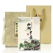 Silk Stamp Album Creative book The west lake ten views Hangzhou tourism cultural souvenir gift Art and collection book DIY charm все цены