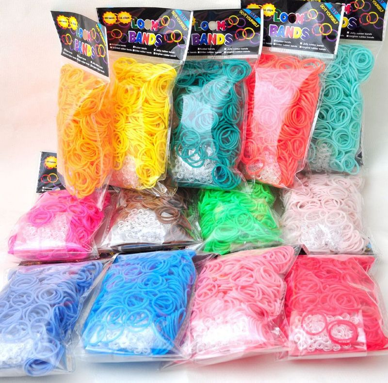 Pantone Color Western European Style Rubber Band Rainbow Knitting Machine Bracelets Loom Bands Arts & Crafts, DIY Toys