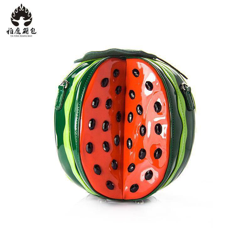 Women Pu Leather Messenger Bags Feminina Green Color Watermelon Design Girls Crossbody Bag Ladies Summer Cute Shoulder Bags 2018