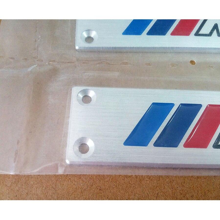 2PCS M Performance Floor Carpet Emblem Auto Floor Mat Badge for BMW X1 X3 X5 X6