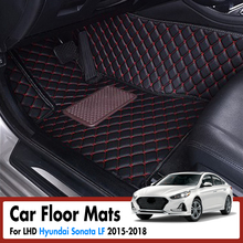 Car Floor Mats For Hyundai Sonata LF 2015 2016 2017 2018 Leather Rugs