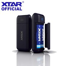 XTAR Charger PB2 Power Bank Functie LED Onbeschermde Li-Ion/IMR/INR/ICR 18650 Batterij Opladers Draagbare Snelle USB Charger XTAR(China)