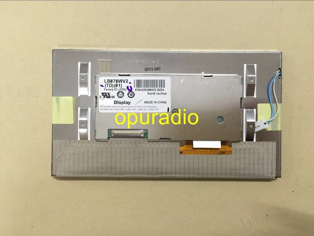 Free DHL LB070WV2-TD01 LB070WV2(TD)(01) for Buick New Regal Mercedes Car GPS Navigation LCD Screen Display panel module
