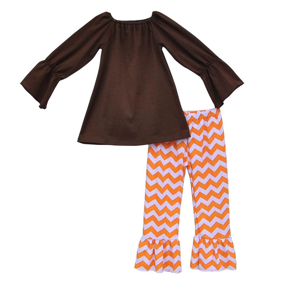 Halloween Fall Qızlar paltarı butiki Ruffle Şevron şalvar Uzun - Uşaq geyimləri - Fotoqrafiya 2