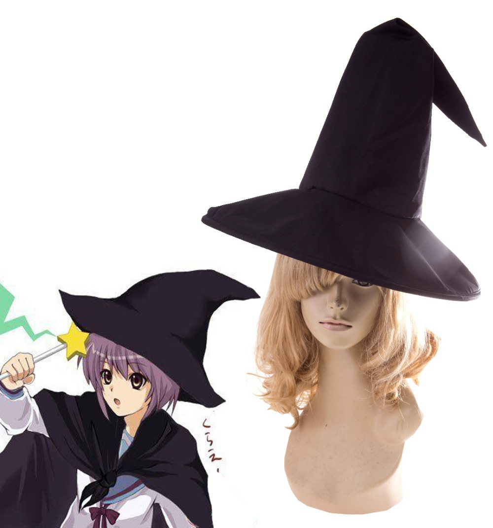 The Melancholy of Haruhi Suzumiya Yuki Nagato  Witch Black Hat Anime Cosplay Accessories