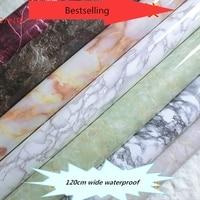 Free Shipping Wall Volume 10 M Marble Jade Pvc Boeing Film Waterproof Wallpaper Kitchen Cabinet Background