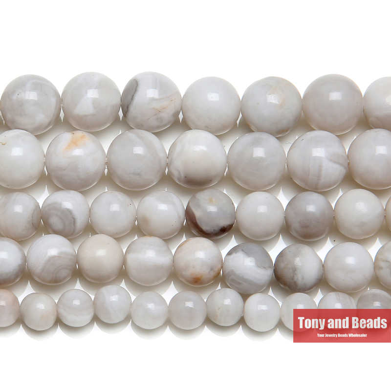 Free Shipping Natural Stone White Crazy Agates Round Loose Beads 4 6 8 10 MM Pick Size for Jewelry Making