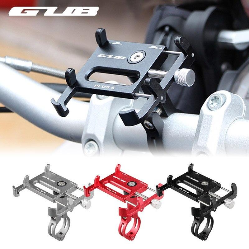 GUB 7 Cores MTB Da Bicicleta Da Bicicleta Phone Holder 360 Graus de Rotação De Alumínio Suporte de Smartphones Guiador Monte Stand for iphone 6 7 8