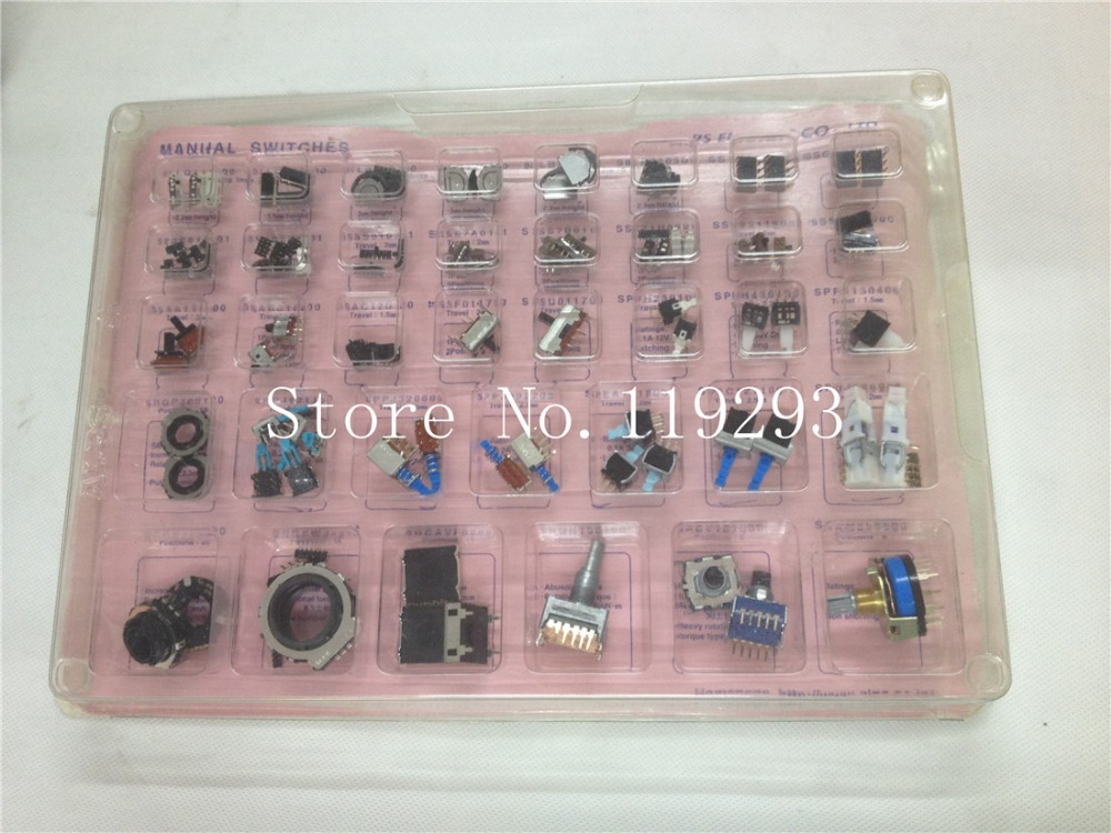 [ BELLA]Imported Japan ALPS sample box encoder band self-locking switch Toggle Switches--1set [bella]genuine imported from japan alps encoder em20b4014a01 40 4 stepping with light switch 1pcs lot