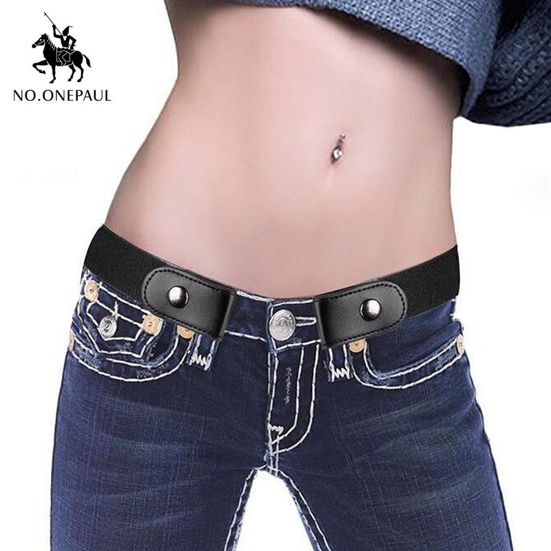 Jeans Women's Punk Style Buckle-Free Belt   2