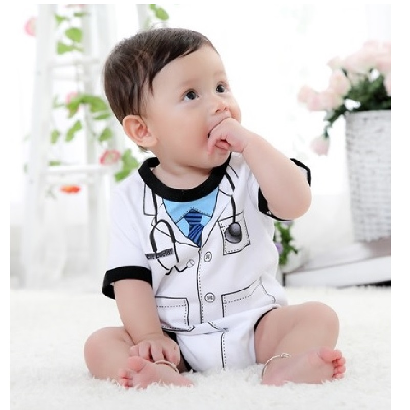 Doctor-baby-boy-bodysuit-short-sleeve-summer-baby-clothes-Newborn-Jumpsuits-Bebe-clothing-girl-Infant-Bodysuits-3