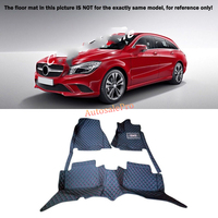 For Mercedes Benz CLA C117 W117 2014 2015 2016 Right & Left Hand Drive Black Front Rear Floor Mat Carpets Pad cover
