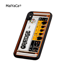 orange guitar amp soft silicone edge cell phone cases for apple iPhone x 5s SE 6 6s plus 7 7plus 8 8plus XR XS MAX case стоимость