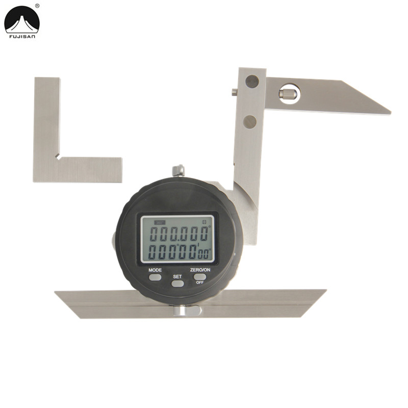 FUJISAN Digital Protractor Ruler 0-360Degree Angle Ruler Protractor Goniometer Gauge Angle Finder Woodworking Measure Tools диск обрезиненный mb barbell 51 мм 5 кг черный евро классик олимпийский