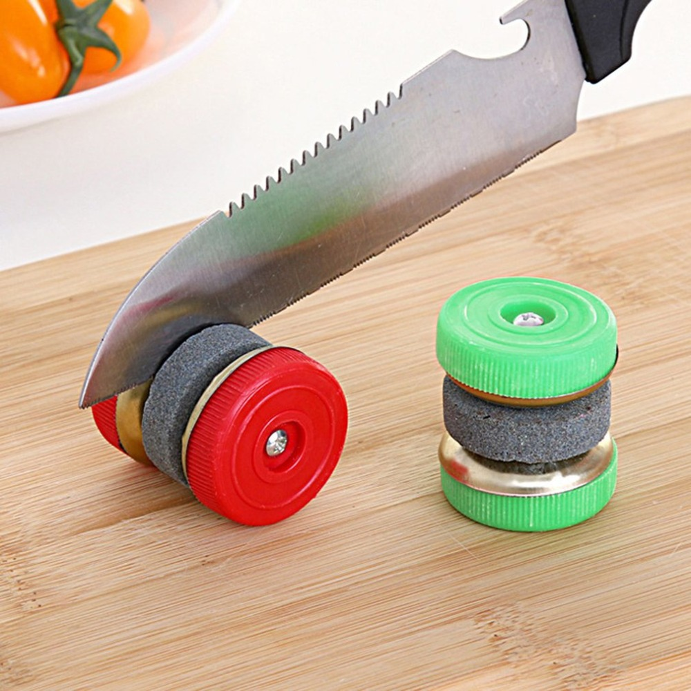 Knife Sharpener Grinding-Wheels Kitchen-Accessories-Tool Household Round Mini