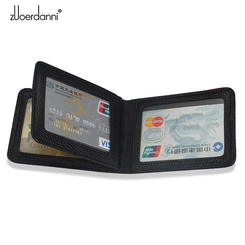 Bolso de la licencia del conductor del cuero genuino Documentos de - Monederos y carteras