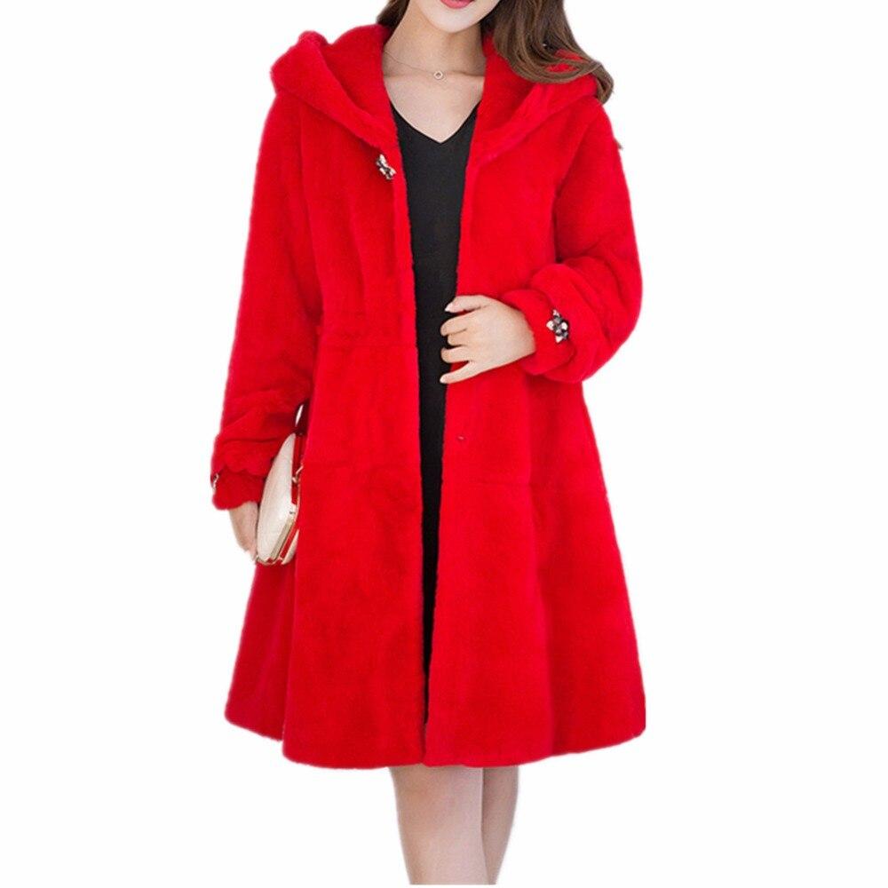 Chaud Beige Veste De Mode rouge Fausse Manteau D'hiver Fourrure Femmes Longues Colly Nouvelle Lisa gris Outwear Manches En noir ZqwOBc