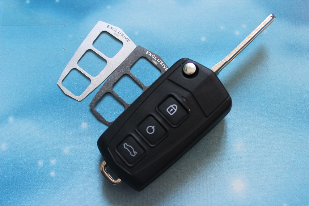 Car Key Cover Housing 3 Buttons Modified Flip Folding Remote Key Shell Fob Case Fit For Hyundai Sonata NF With Logo