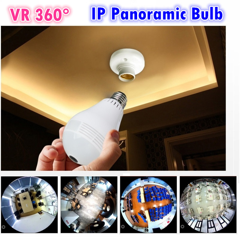 IP Fisheye camera v380 software VR 360 degree wireless Panoramic light  Camera network light bulb support max 128G memory card 2pcs h4 hb2 9003 cob 4 led white auto car driving light lamp bulb dc 12 24v 6000k xenon white car super bright car styling