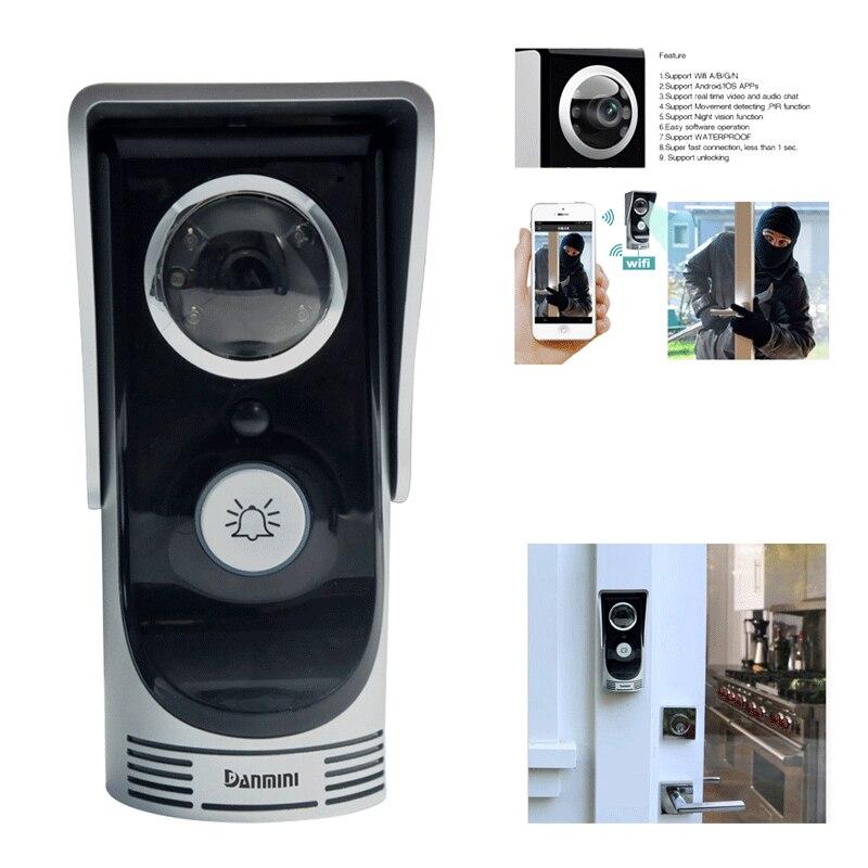 bilder für 720 P 2.0MP Wifi Türklingel Kamera Wireless Video-türsprechanlage Peehole Kamera türklingel IOS Android Phone APP