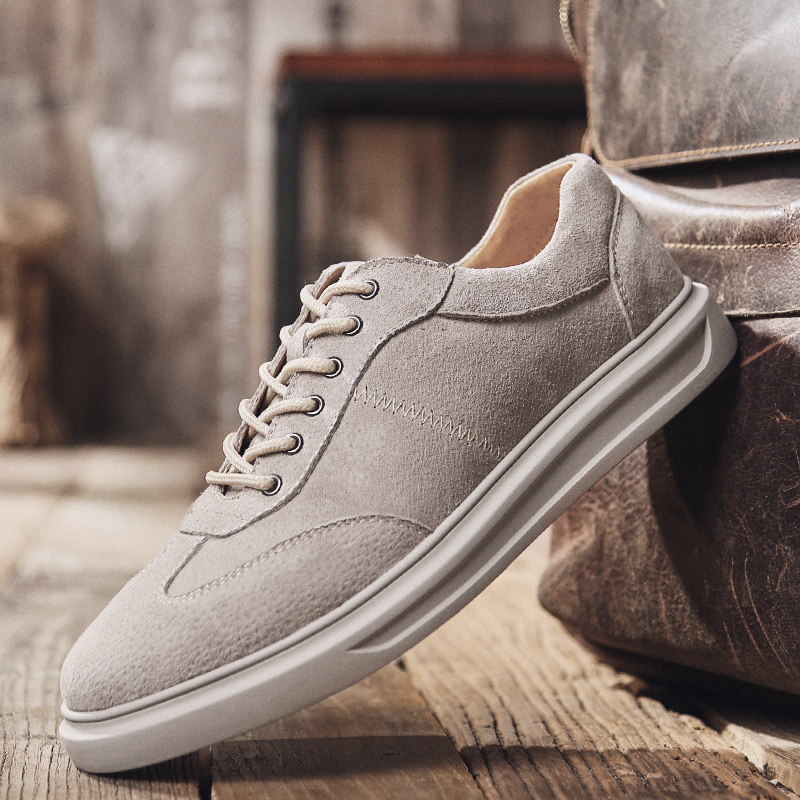 Fashion Men Casual sneaker shoes   suede     Leather   Breathable Men lightweight Comfortable breathable spring autumn shoes men p4