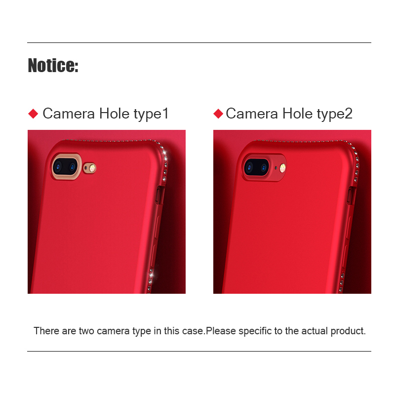 Tomkas Rhinestone Silicone Case For iPhone X 7 8 Plus Case Luxury Glitter TPU Soft Matte Cover For iPhone 6 6S Plus Cases Coque