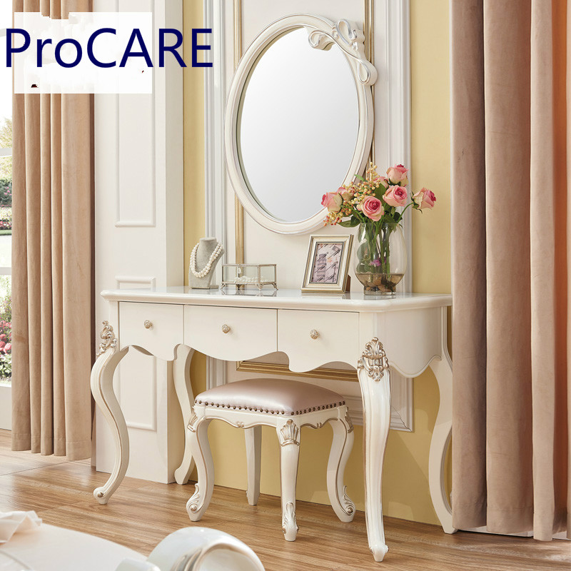 European style bedroom ivory white French dressing table ...