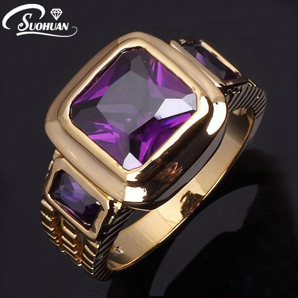 Online Buy Wholesale amethyst men's ring from China amethyst ...