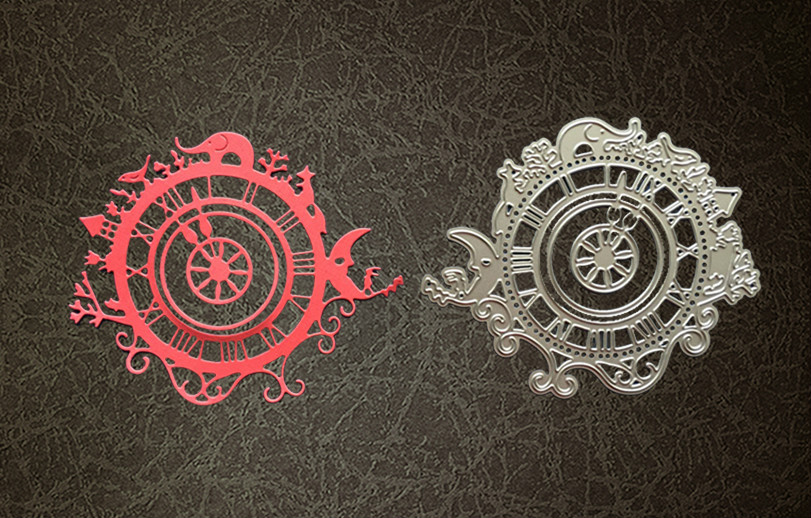Metal Novelty clock Cutting Dies Stencils for DIY Scrapbooking photo album Decorative Embossing DIY Paper Cards