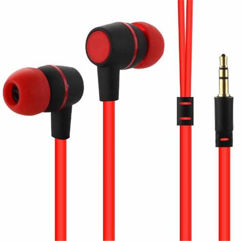 Bas Stereo NK 3.5mm słuchawki douszne muzyka Sport zestaw słuchawkowy słuchawki douszne do iPhone'a Xiaomi Samsung PK S6 S8 Am115 słuchawki Bluetooth