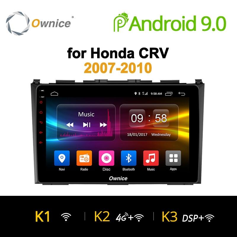 Ownice K1 K2 K3 8 Octa Core de DVD Do Carro do GPS do android 9.0 32 GB para Honda CRV 2006 2007 2008 2009 2010 2011 Suporte rádio Vídeo 4G LTE