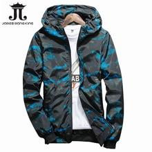 Autumn hooded jacket men Fashion 2018 New Thin military jacket Mens slim Zipper jacket windbreakers jacket plus size 4XL