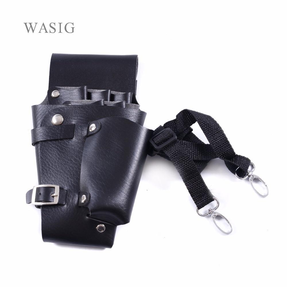 1pcs Leather Hairdressing Case Tools Scissor Bag Barber Holster Pouch Holder Rivet Purse Adjustable Waist Shoulder Belt