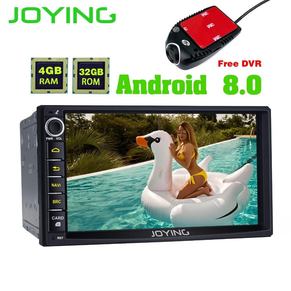Joying 2 Din Unità di Testa 4 gb + 32 gb Android Universal Car Radio Stereo GPS di Navigazione Registratore a Nastro Con trasporto DVR Giocatore di Musica