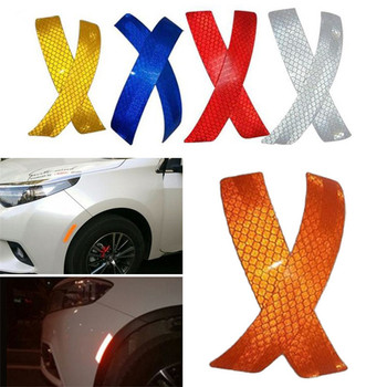 2pcs Car Reflective Wheel Eyebrow Headlight Stickers For Toyota Corolla Avensis Rav4 c-hr Volkswagen VW Passat B6 B5 Polo Jetta image
