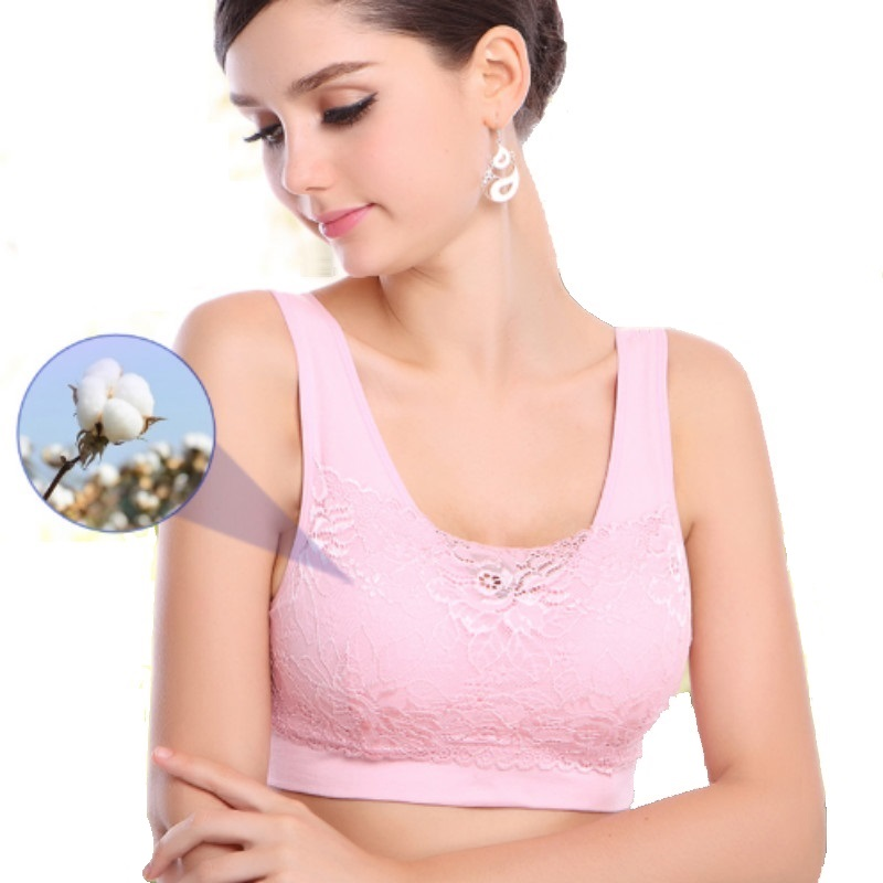 f1420c63e8 Dropwow Breast form Underwear mastectomy bra designed with pocket bra  breast prosthesis Mastectomy Bras Lace Breasts Cancer Bras B-1402