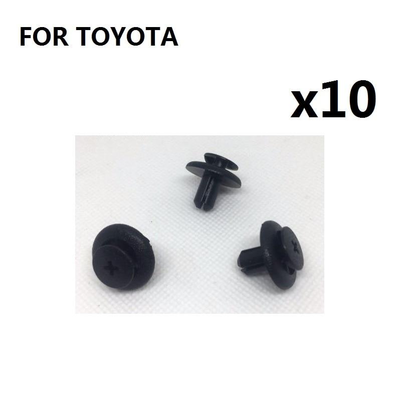 Toyota Plastic Bumper Clips Panel Fastener Trim x10