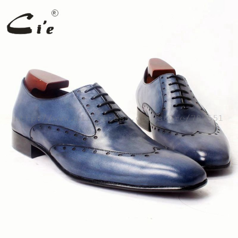 cie square toe hand painted men oxfords leather shoe bespoke custom handmade pure leather men leather