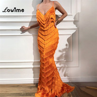 Robe De Soiree 2018 Long Evening Dress Formal Dress Vestido Mermaid Spaghetti Strap Prom Dresses Arabic Party Gowns For Wedding