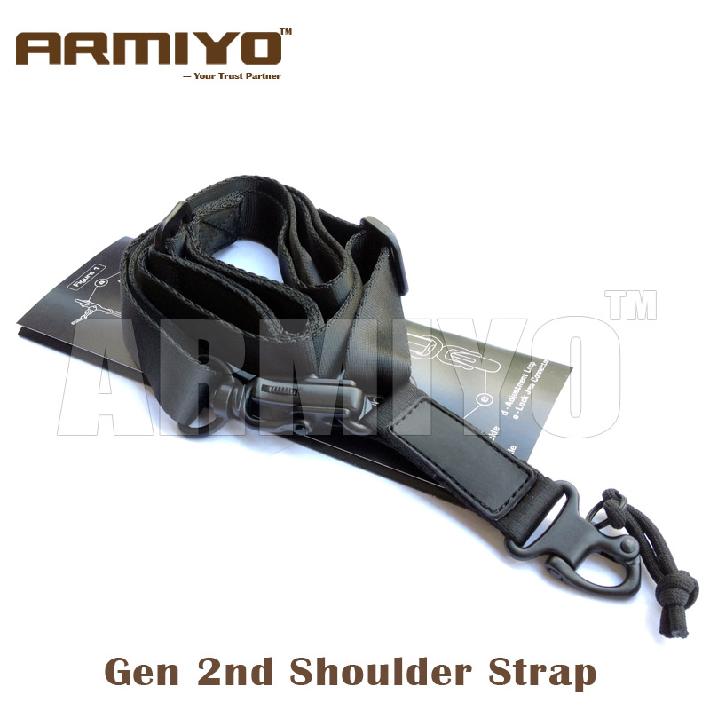 Armiyo Tactical MS 2nd Gen Hunting Rifle AR 15 2 Point Multi Mission Sling Gun Shoulder Strap Shooting Paintball Accessories tourbon tactical rifle gun sling with swivels shotgun carrying shoulder strap black genuine leather belt length adjustable