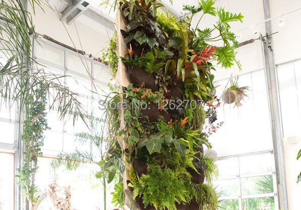5pieces 4 Pocket Hanging Vertical Garden Wall Wall Planter - - Бақша өнімдері - фото 4
