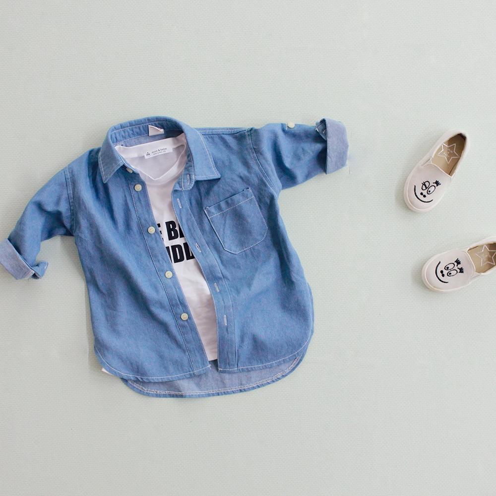 2016 Új divat Bébi ingek Gyermek farmer pólók Lány alkalmi - Gyermekruházat - Fénykép 3