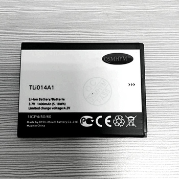 Original TLi014A1 3.7V 1400mAh White Battery For Alcatel Onetouch 4010/D 4012 4030/D/A OT-5020/D Phone New With Tracking Number image