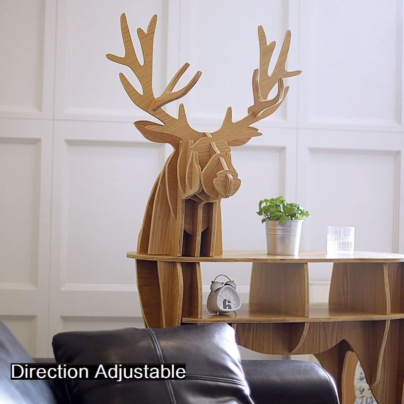 Fa szarvas otthoni dekorációs dohányzóasztal KING II. Önálló - Bútorok - Fénykép 5