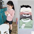 Children's Cloth Baby Girls Base Shirt 5 Colors Lace Princess Shirt Long Style Tees Spring Autumn Tees For Girls KD2-7Y