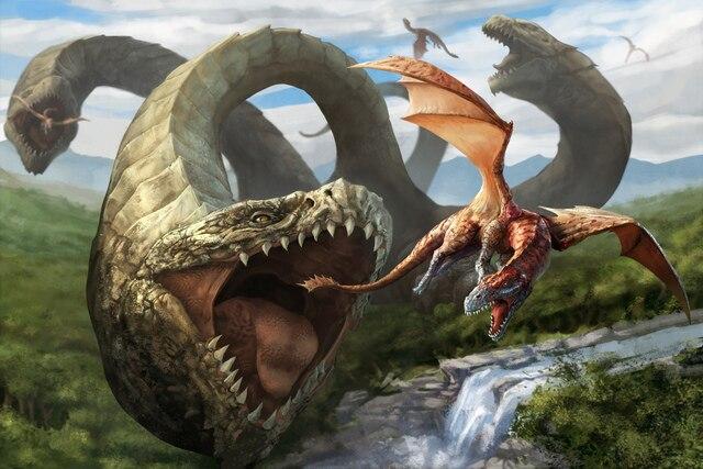 Draken-art-waterval-mond-triceps-vlucht-rivier-jacht-woonkamer-thuis-art-decor-houten-frame-stof-poster.jpg_640x640.jpg
