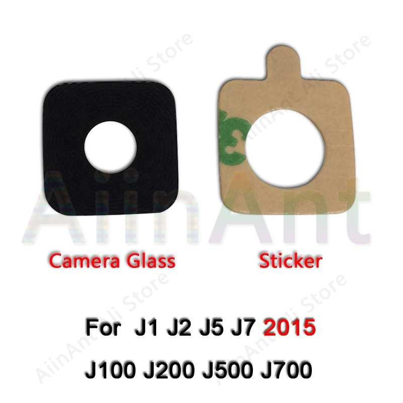لسامسونج غالاكسي J3 J5 J7 2015 2016 2017 J320 J530 J730 الخلفية الكاميرا الخلفية غطاء لعدسات النظارة حلقة مع ملصقا