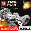 Lepin 05046 Nuevo 1748 Unids Serie Star El Tantive IV Rebel Blockade Runner Conjunto Blcoks construcción Ladrillos Juguetes 10019
