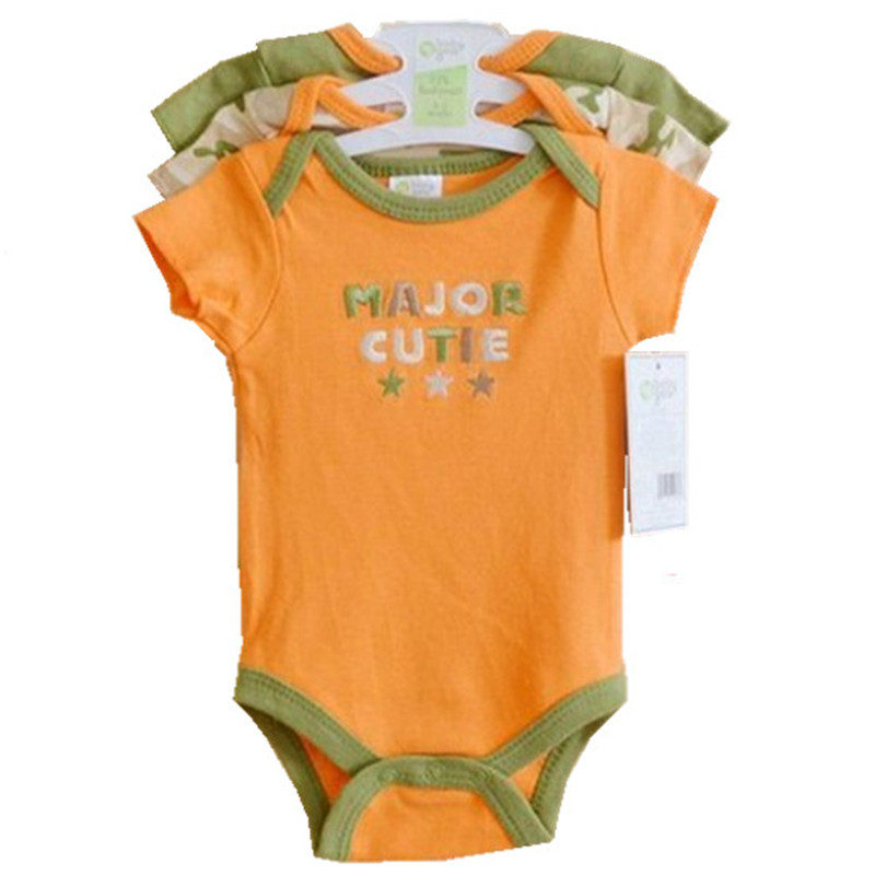 3pcs lot Baby Bodysuits Clothing Short Sleeve 2017 Summer Infant Boy Girl Jumpsuit 100 Cotton Next